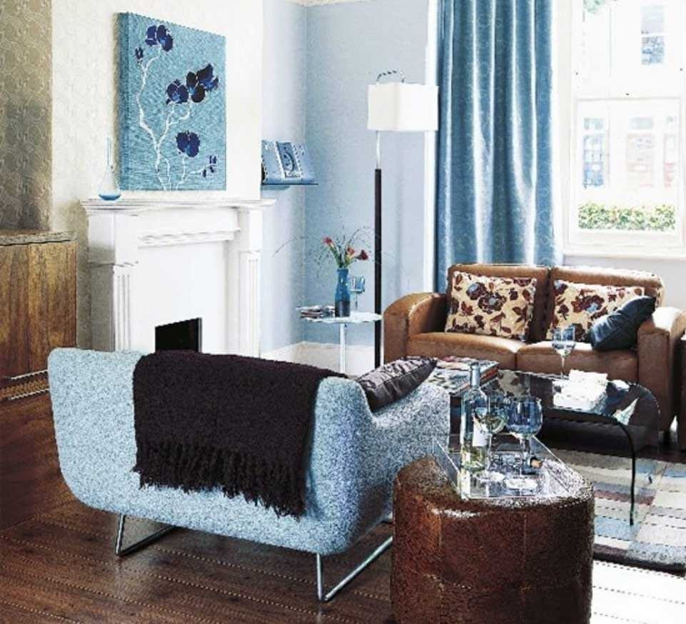 10 Attractive Blue And Brown Living Room Ideas light blue and brown living inspirations also outstanding room decor