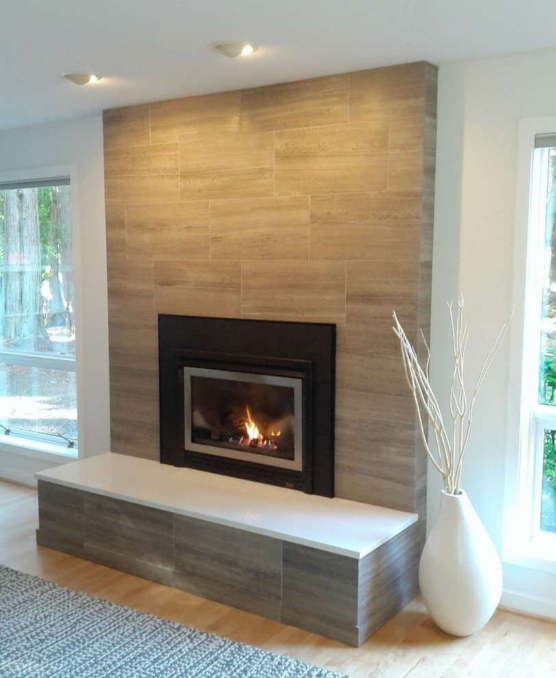 10 Unique Fireplace Design Ideas With Tile light brown granite fireplaces stone on black design with white 2020