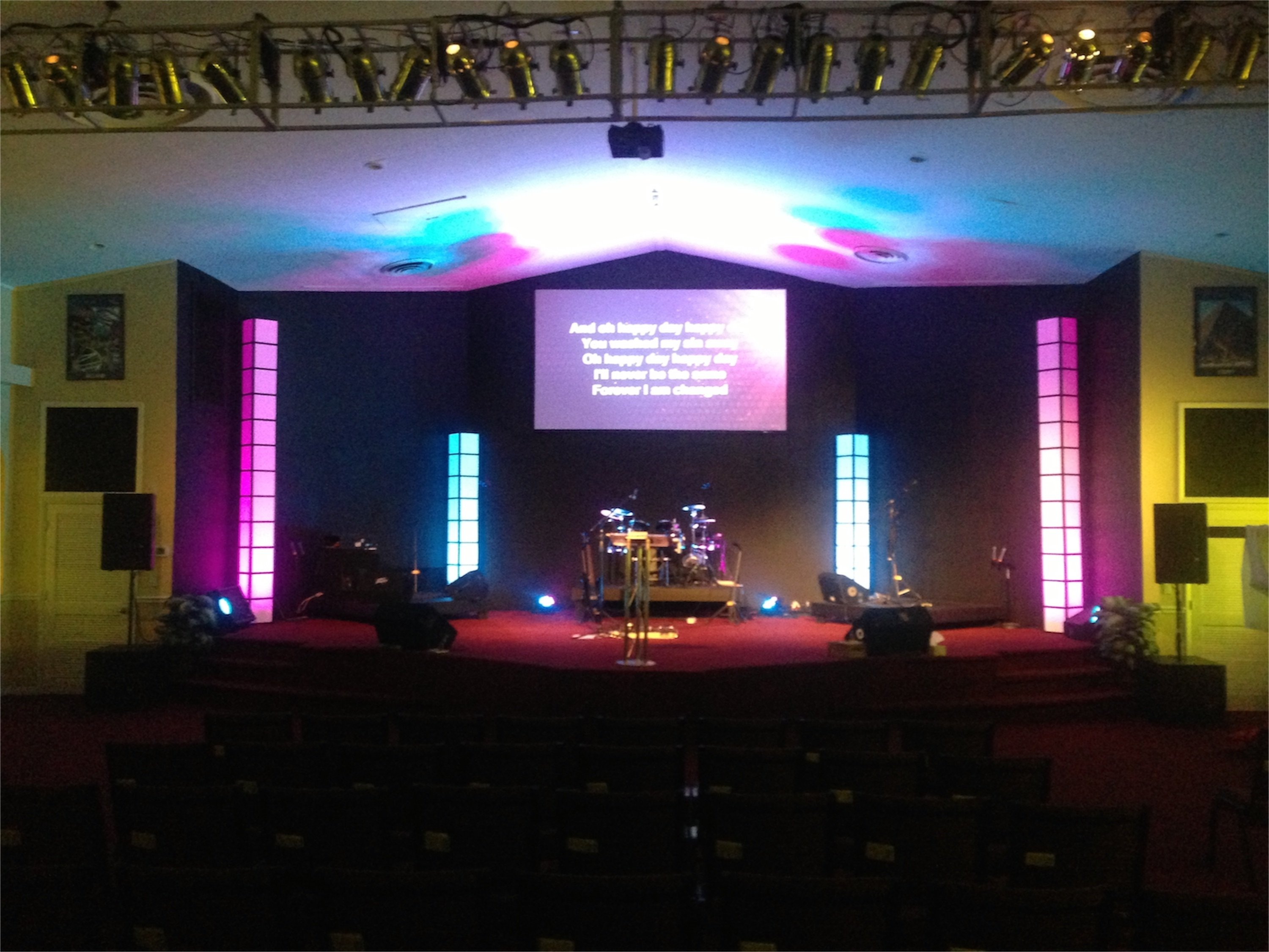 10 Unique Small Church Stage Design Ideas light towers plus church stage design ideas 2020
