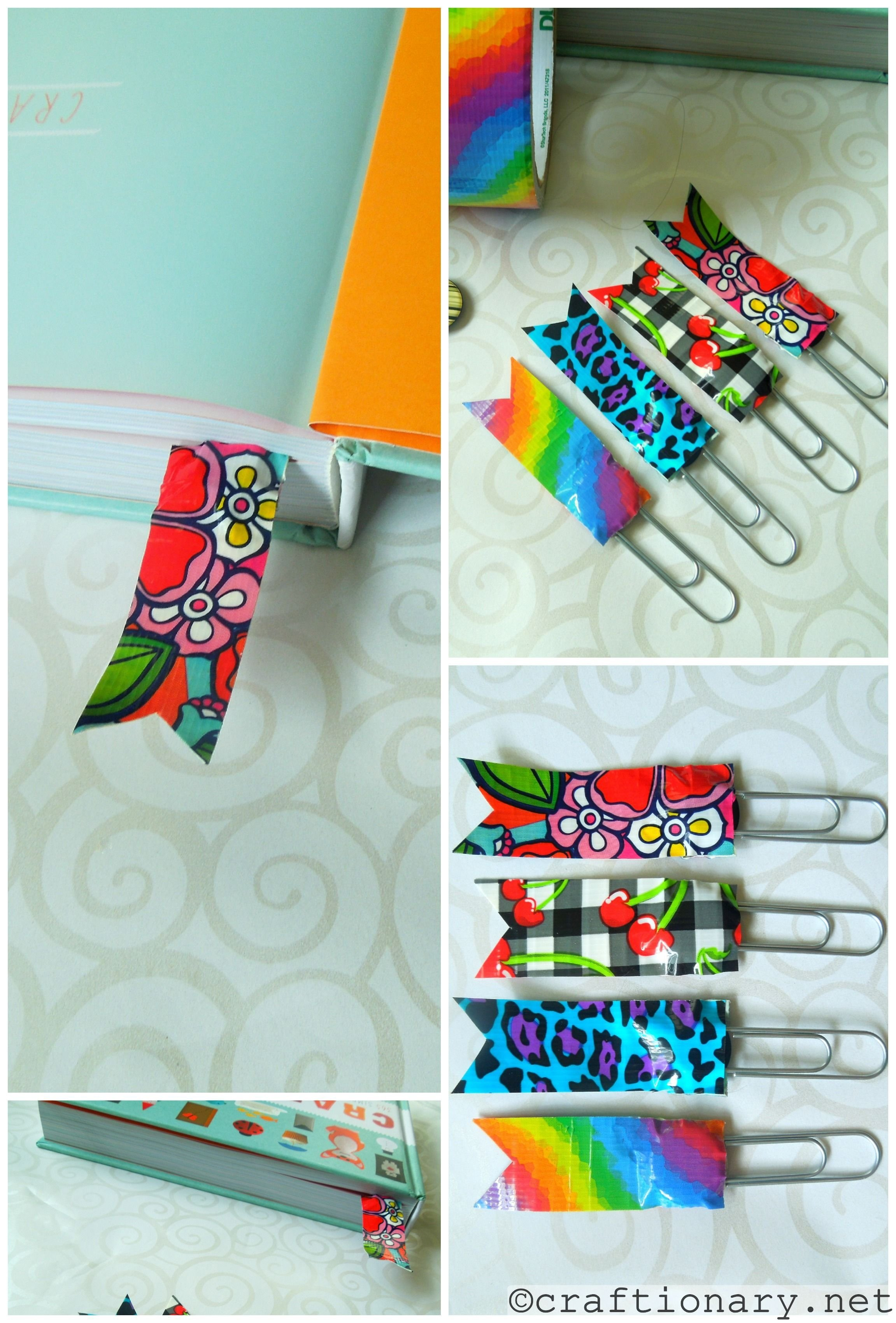10 Attractive Duct Tape Ideas For Girls like flag look duct tape bookmarks tierra este 84553 2020