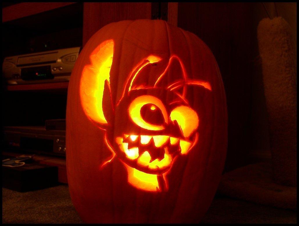 10 Best Cute Couple Pumpkin Carving Ideas lilo and stitch pumpkin carving patterns stitch pumpkin carving 2020