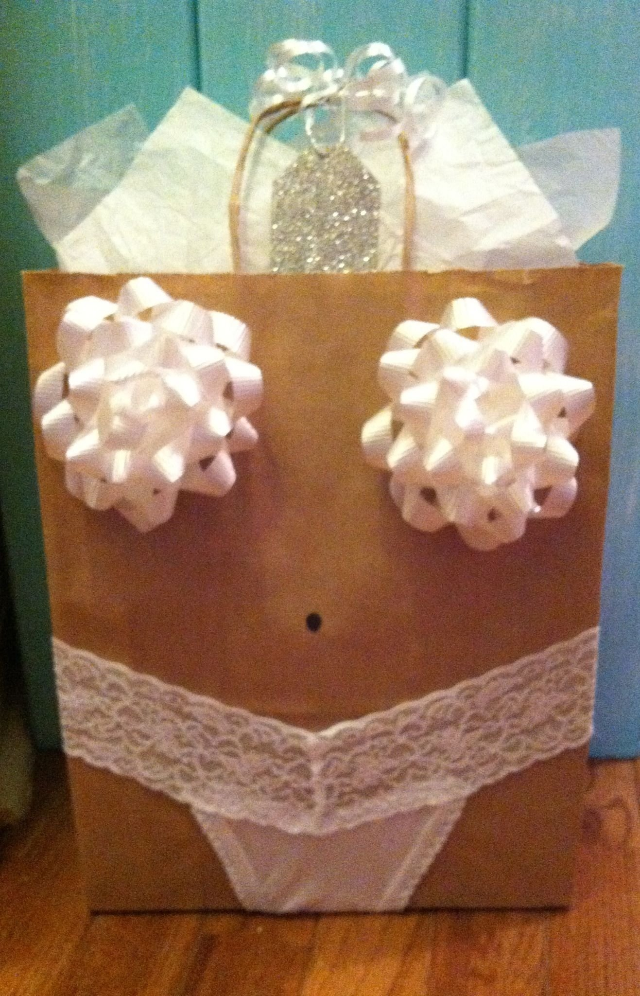 lingerie shower gift wrap idea! next person to get married is