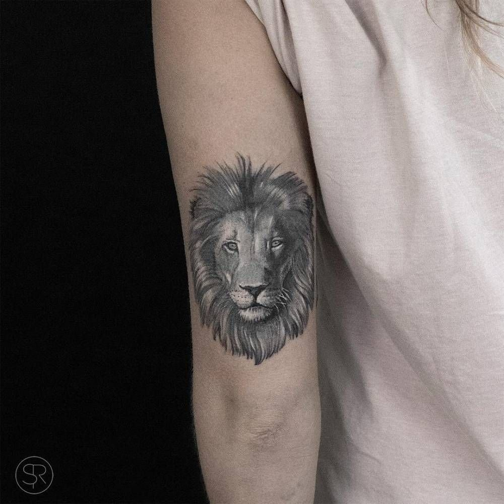 10 Beautiful Back Of Arm Tattoo Ideas lion head tattoo on the back of the left arm tattoos pinterest