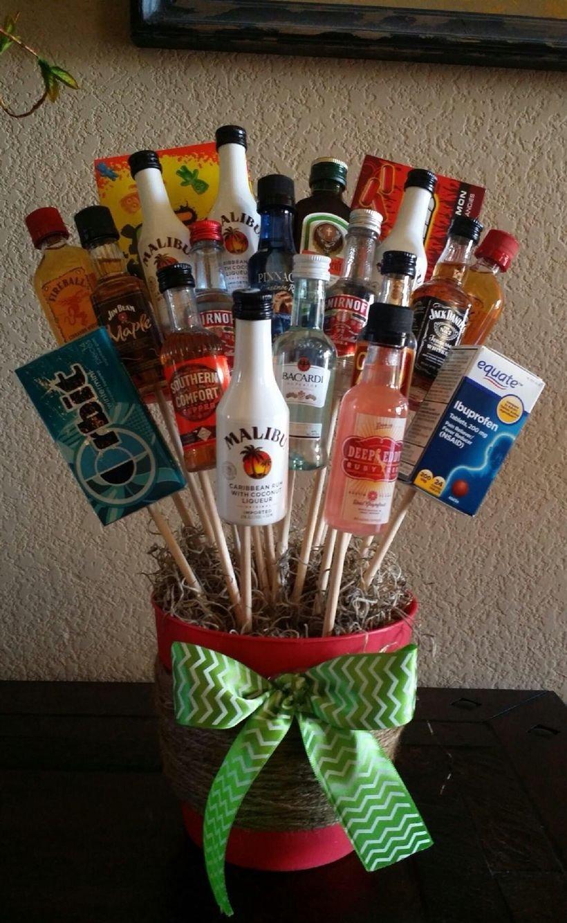 10 Fabulous Homemade White Elephant Gift Ideas liquor bouquet for white elephant gift you cant go wrong 1