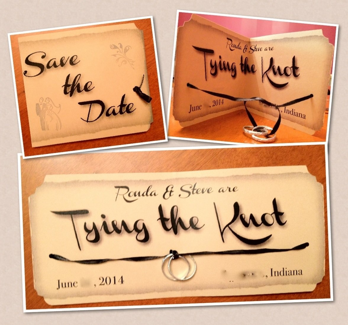 10 Amazing Save The Date Ideas Diy literally tying the knot crafty wedding 2021