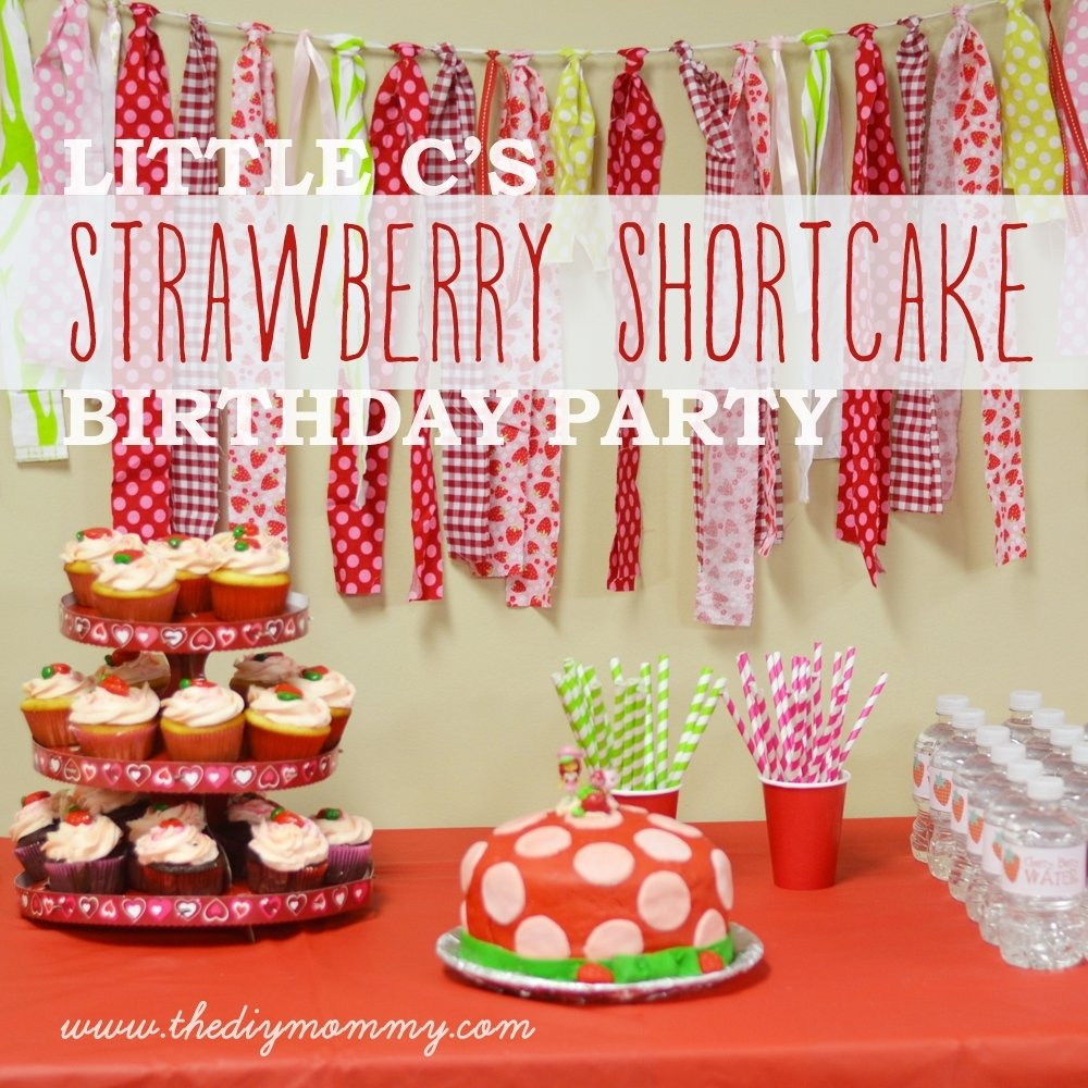 10 Attractive Strawberry Shortcake Birthday Party Ideas little cs strawberry shortcake birthday party free water bottle 2021
