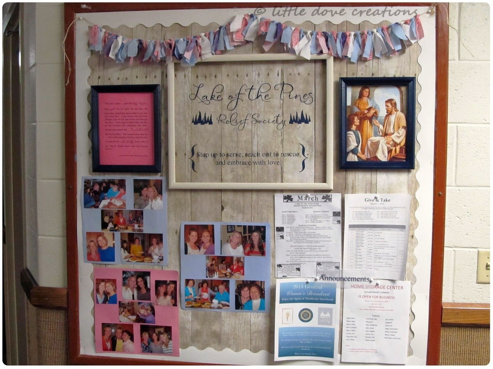 10 Ideal Relief Society Bulletin Board Ideas little dove creations springtime relief society bulletin board lds 2020