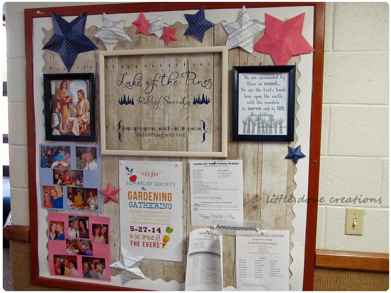 10 Ideal Relief Society Bulletin Board Ideas little dove creations summertime relief society bulletin board 2020