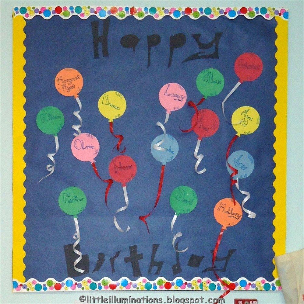 10 Wonderful Happy Birthday Bulletin Board Ideas little illuminations back to school bulletin boardsredux 2020