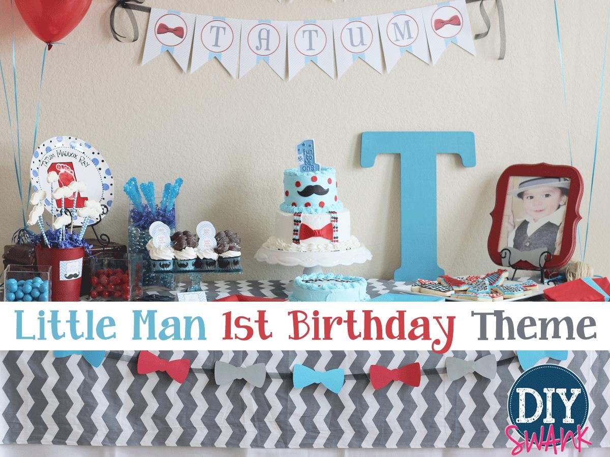 10 Most Popular Baby Boy 1St Birthday Party Ideas Little Man First Diy Swank