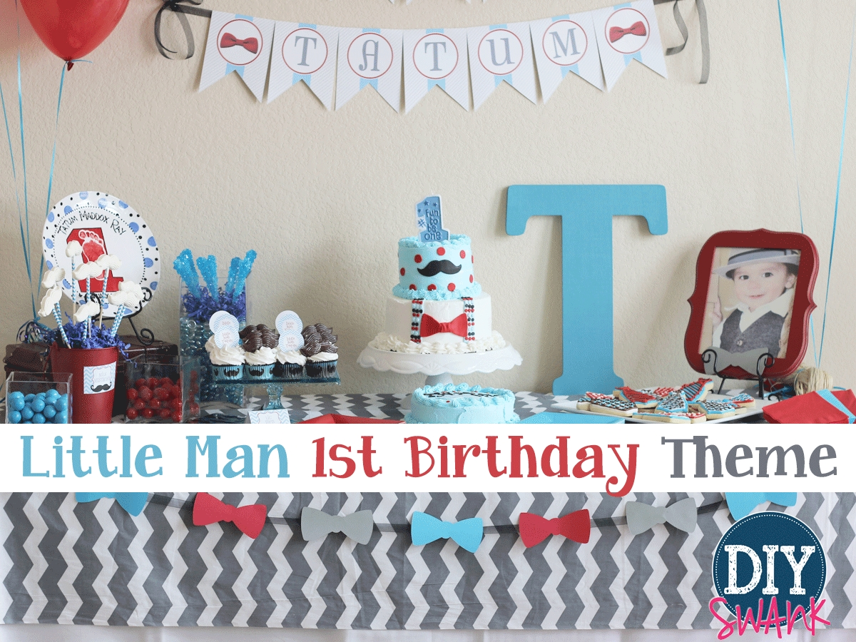 10 Elegant Unique First Birthday Party Ideas little man first birthday party diy swank 7