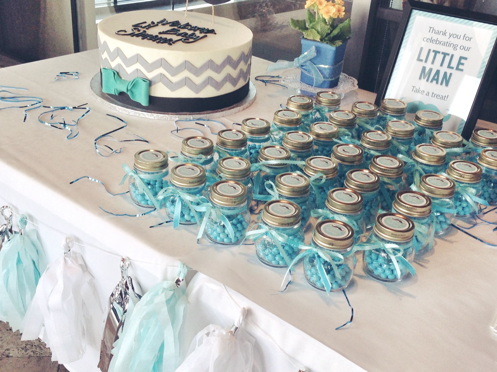 little man + mustache baby shower ideas | life without pink