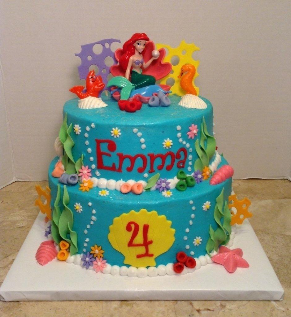 10 Great Little Mermaid Birthday Cake Ideas little mermaid 4th birthday cake cakecentral inside little mermaid 2021