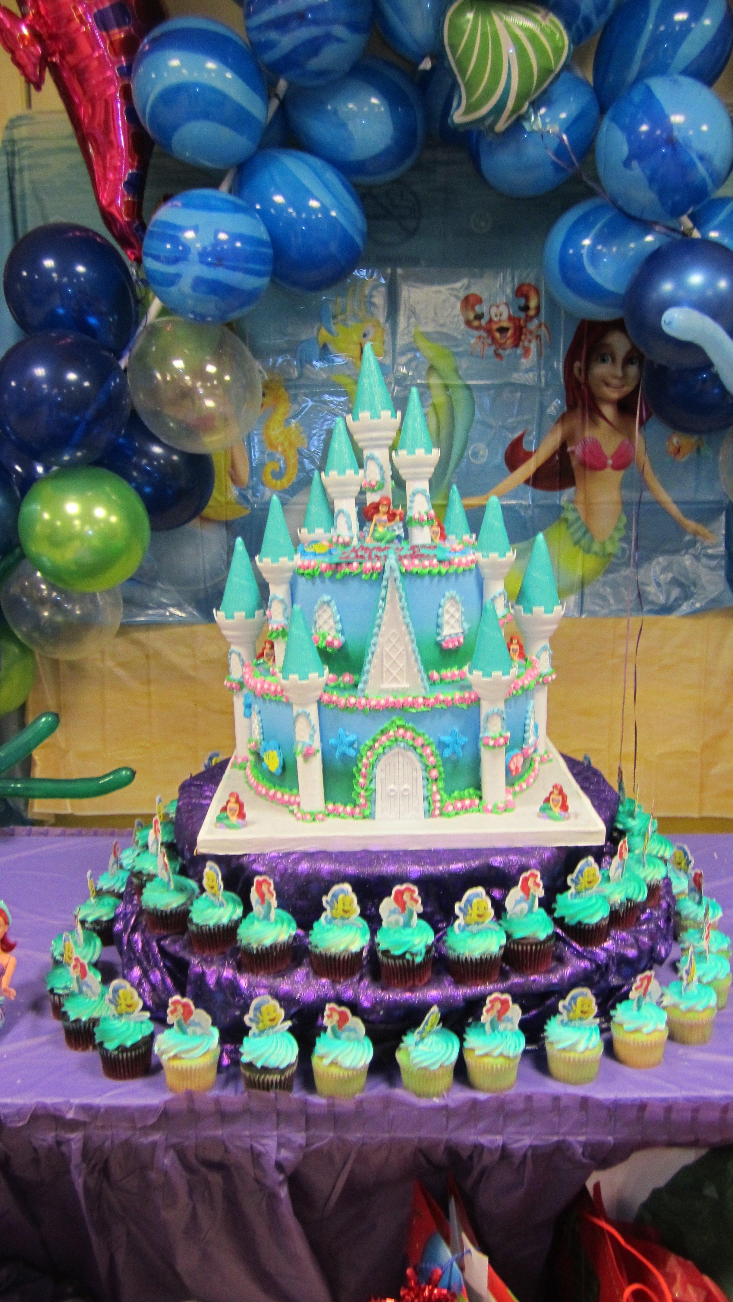 10 Pretty Little Mermaid Birthday Party Ideas little mermaid birthday cake party decorations pinterest 1 2021