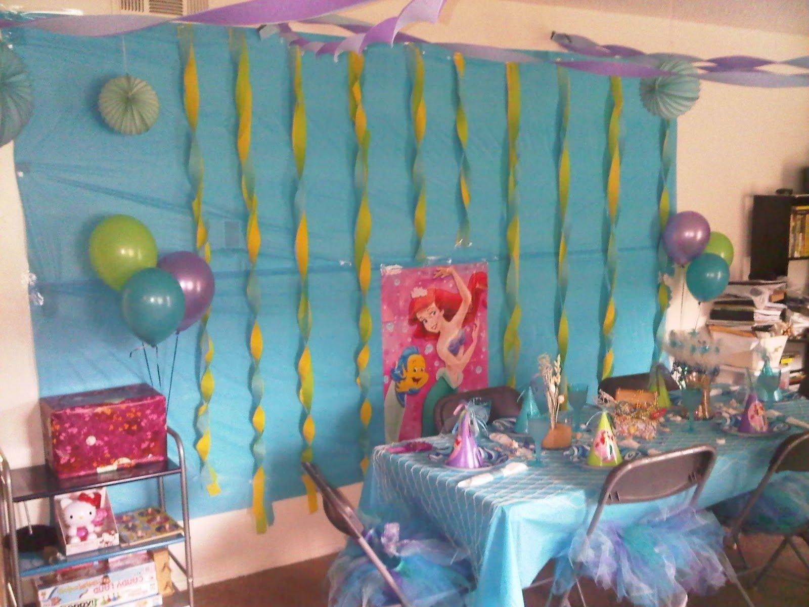 10 Pretty Little Mermaid Birthday Party Ideas little mermaid birthday party decorations little mermaid 1 2021