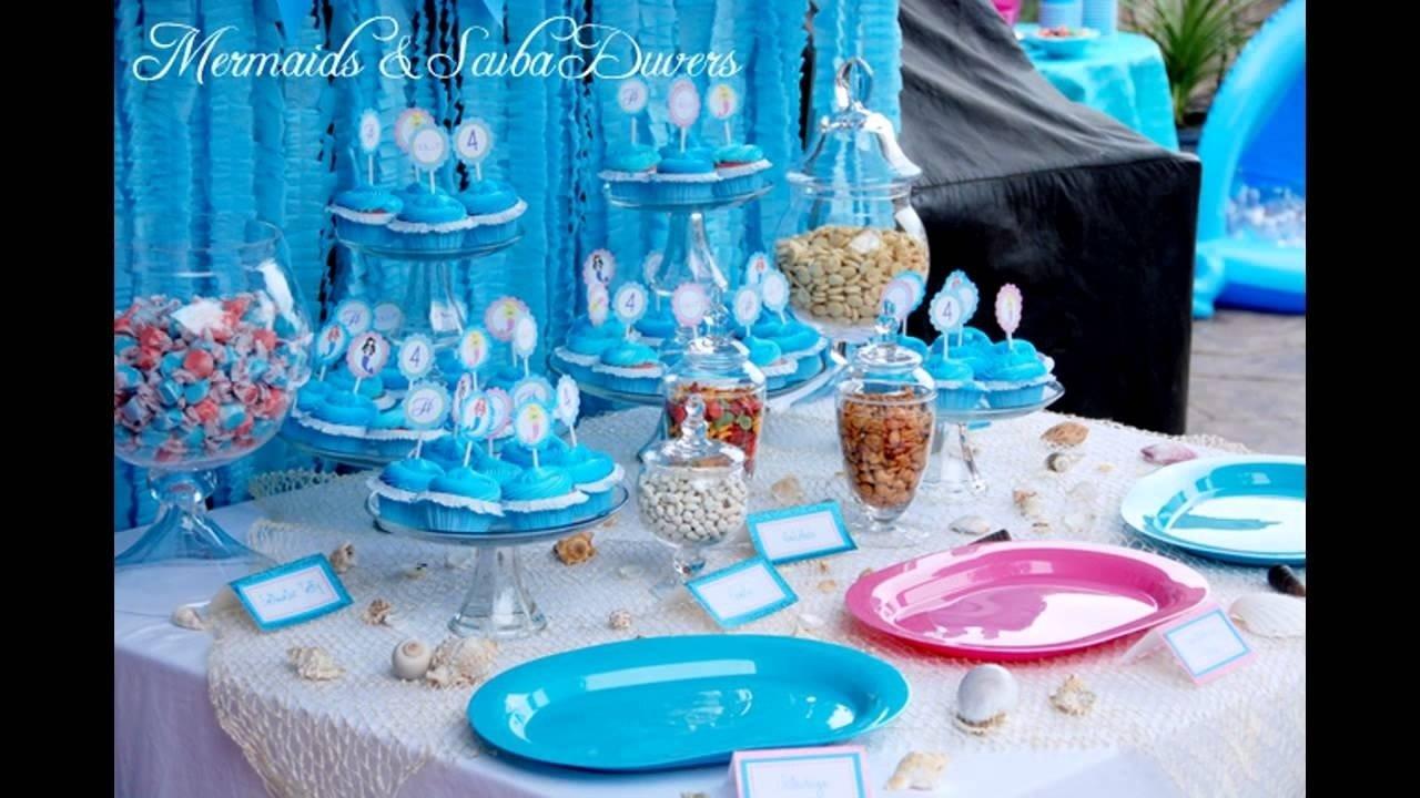 10 Great The Little Mermaid Birthday Party Ideas little mermaid birthday party decorations youtube 1 2021