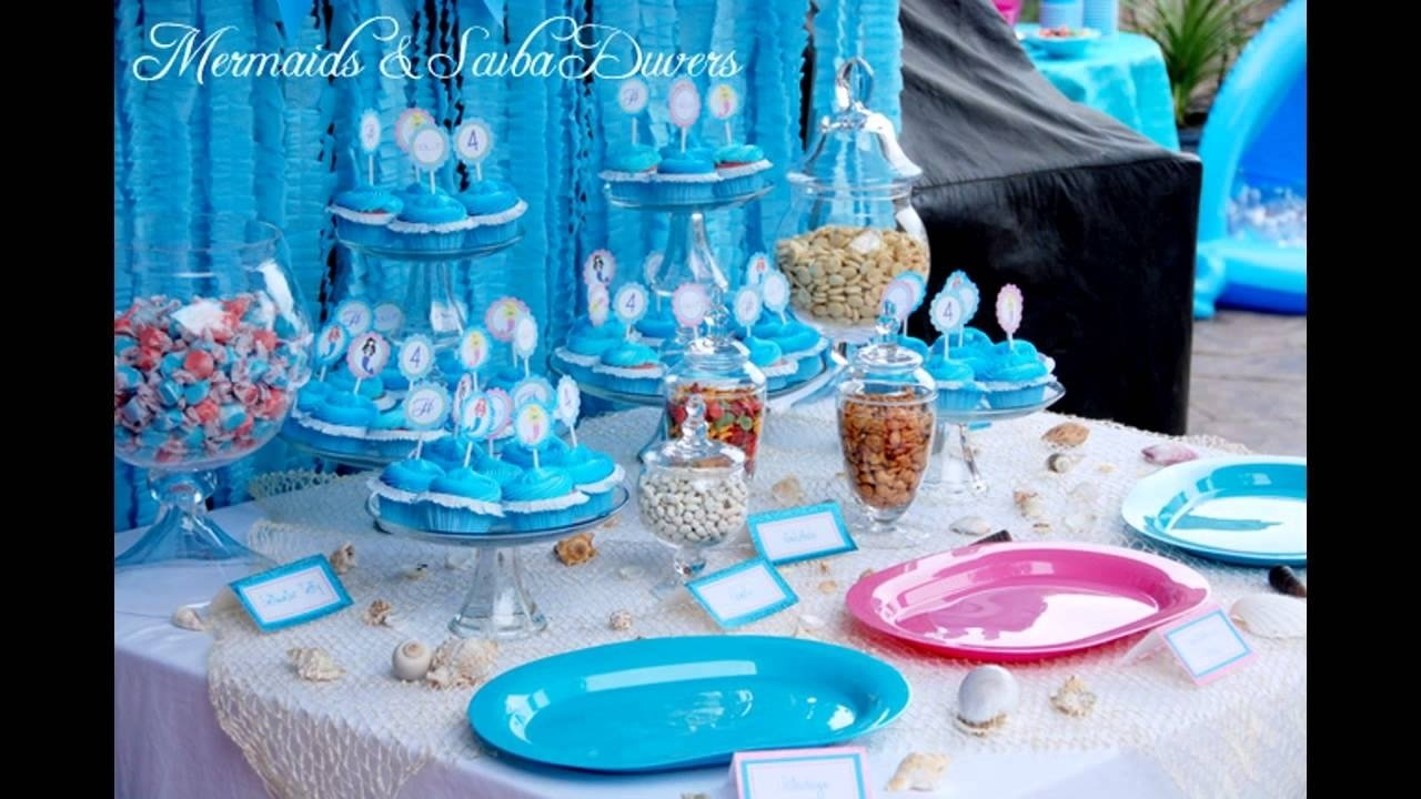 little mermaid birthday party decorations - youtube