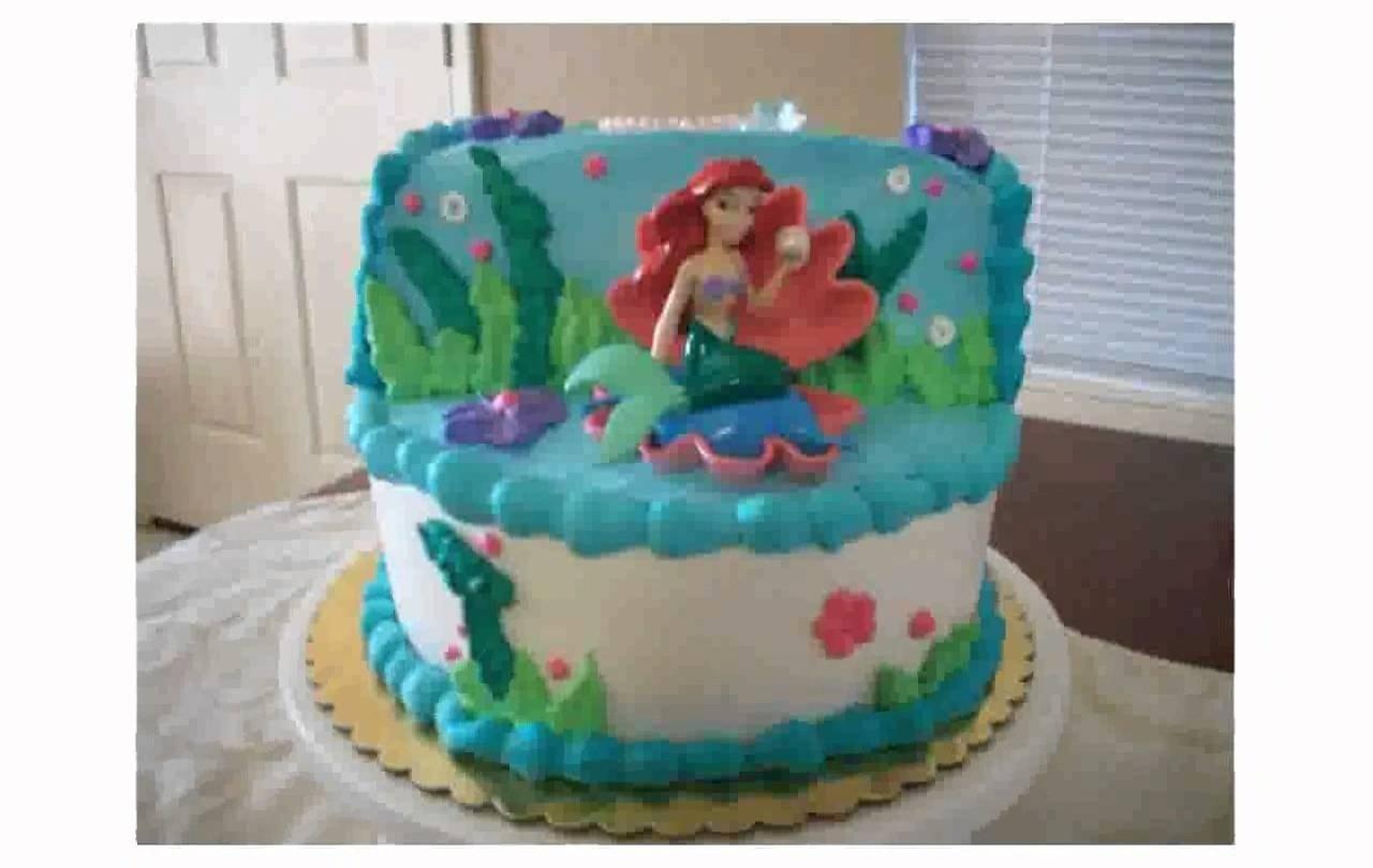 10 Great Little Mermaid Birthday Cake Ideas little mermaid cake decorations youtube 2021