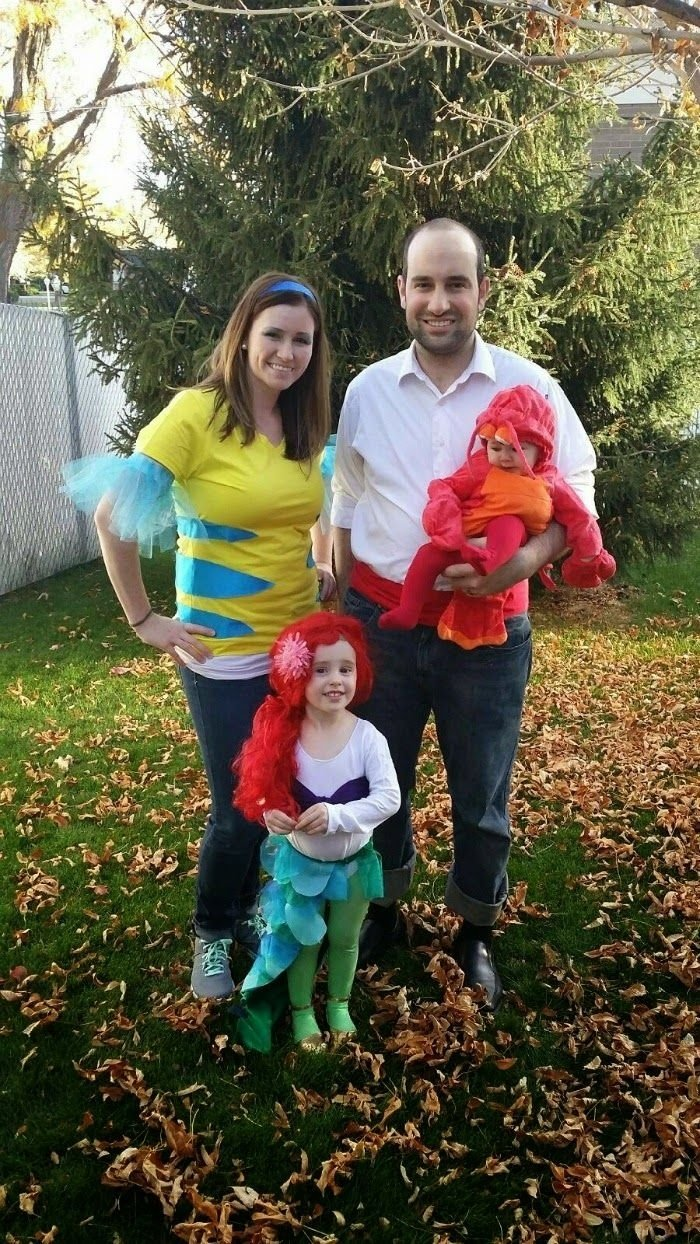 10 Fashionable Family Of Four Halloween Costume Ideas little mermaid family halloween costume halloween costumes 2 2020