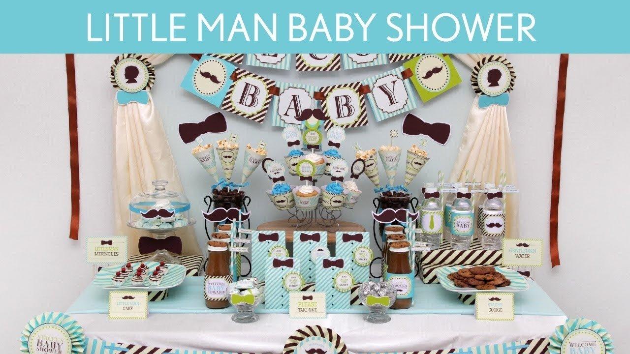 10 Attractive Little Man Baby Shower Ideas littleman baby shower party ideas littleman s12 youtube 2020