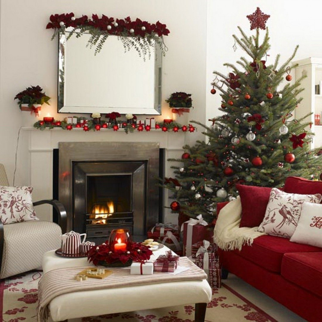 living room: 5 apartment christmas decorations. | jewcafes inside