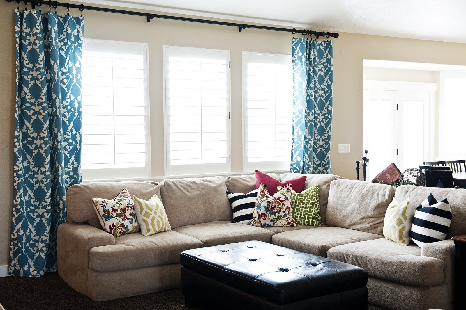 living room. beauty living room window treatments: living-room