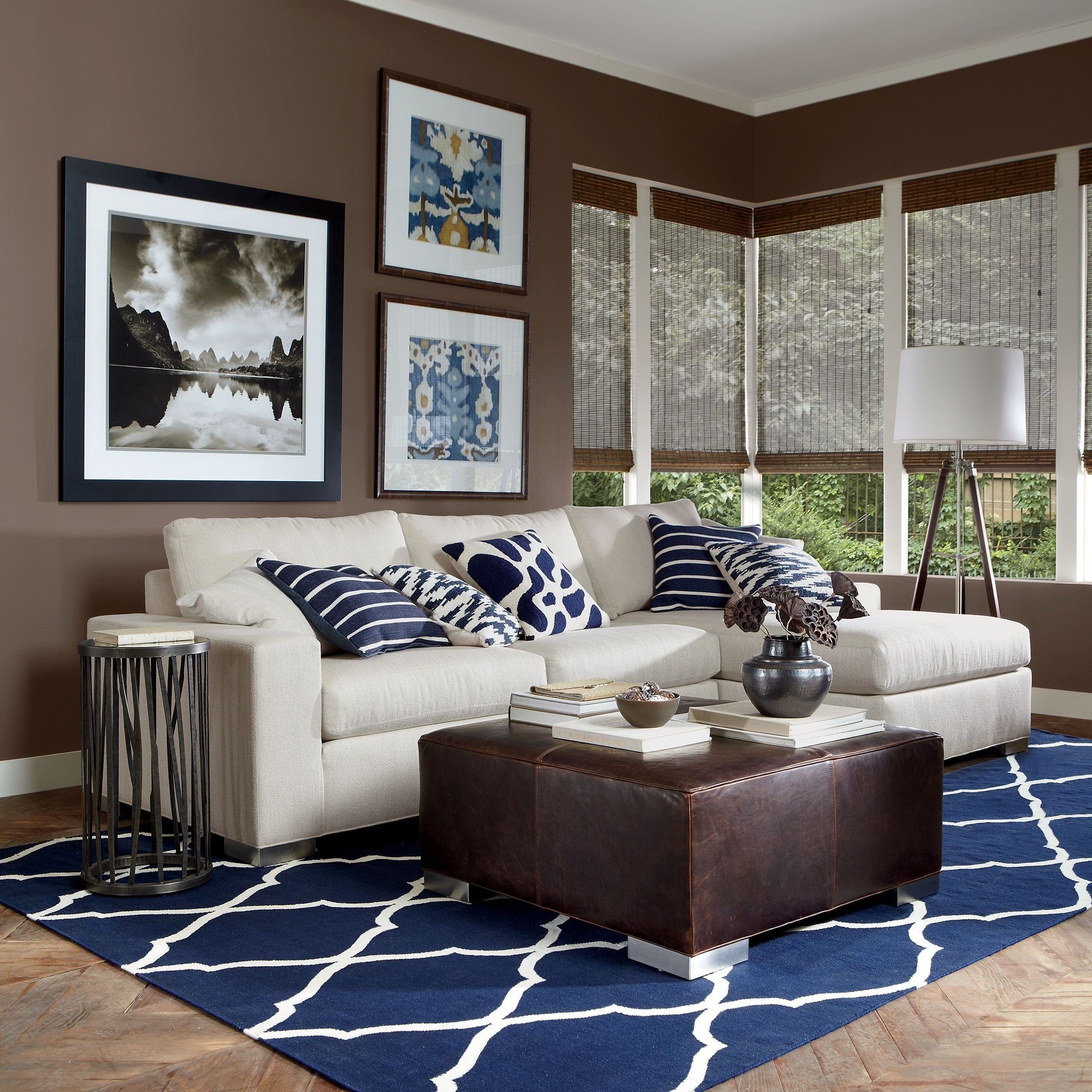 10 Attractive Blue And Brown Living Room Ideas living room blue and brown living room ideas brown and yellow
