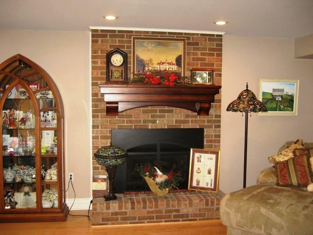 10 Unique Mantel Ideas For Brick Fireplace living room brick fireplace for living room with simple log 2020