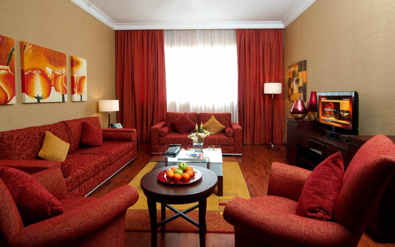 10 Best Red And Brown Living Room Ideas living room classy brown and red color for living room with red 2020