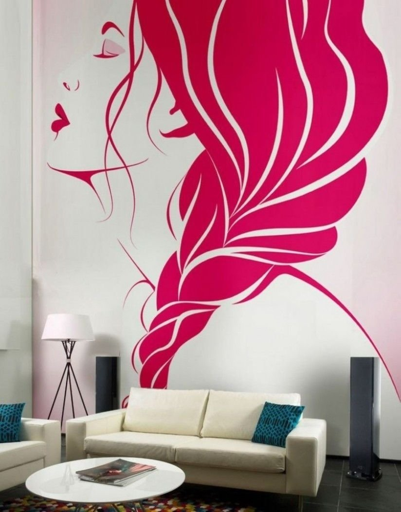 10 Wonderful Creative Painting Ideas For Walls living room creative wall decor ideas with pink murals applying 2020