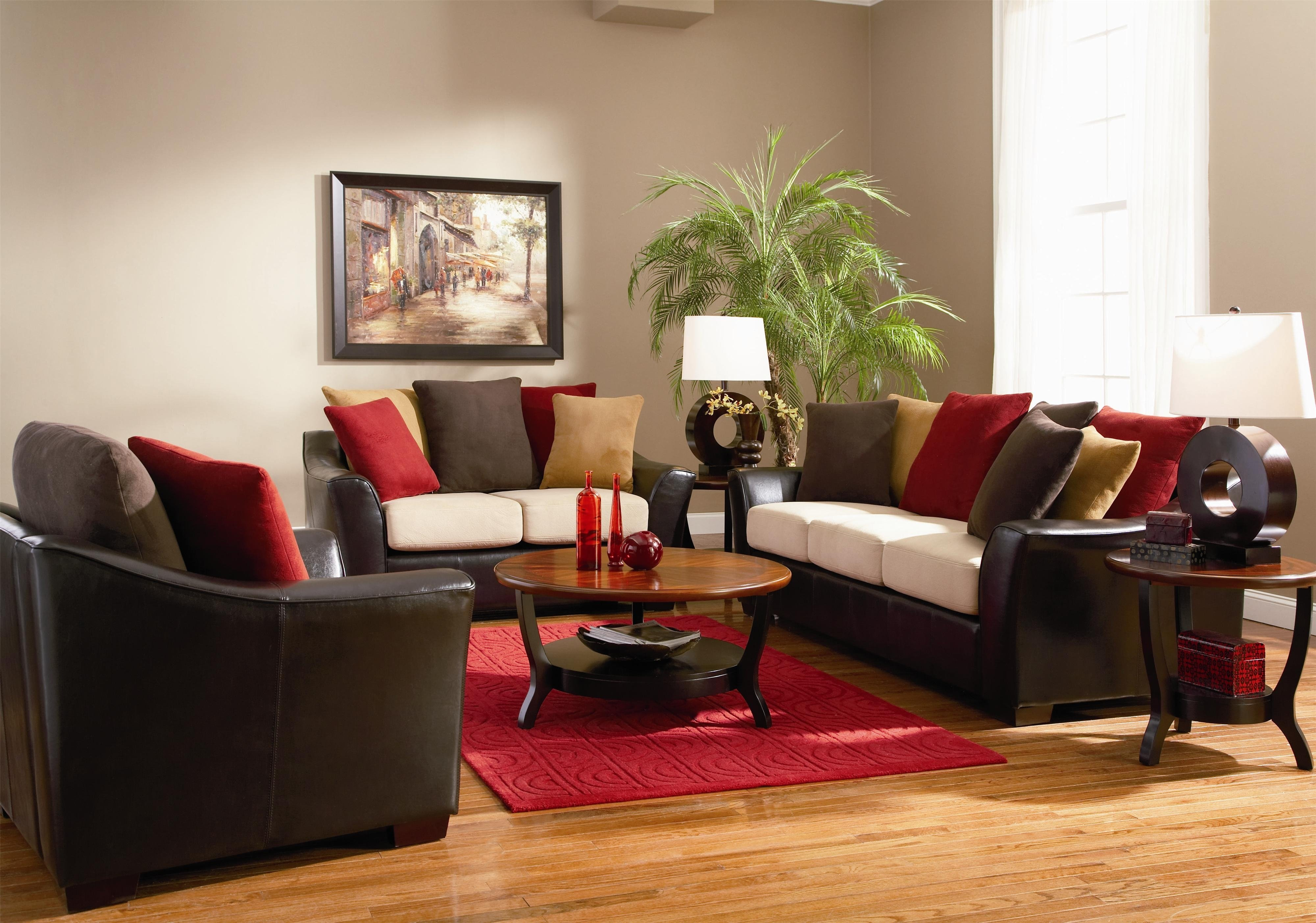 10 Best Red And Brown Living Room Ideas living room design ideas brown leather sofa artsy personalization 2020