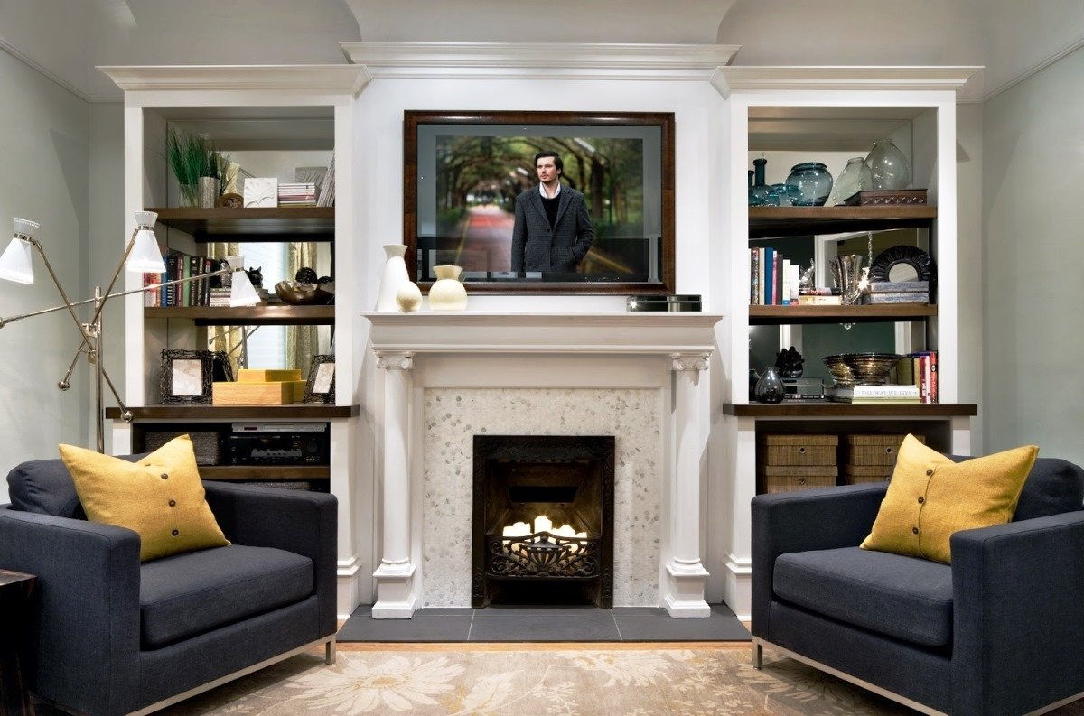 10 Lovely Living Room With Fireplace Ideas living room family decorating with stone wood burning fireplace and 2020