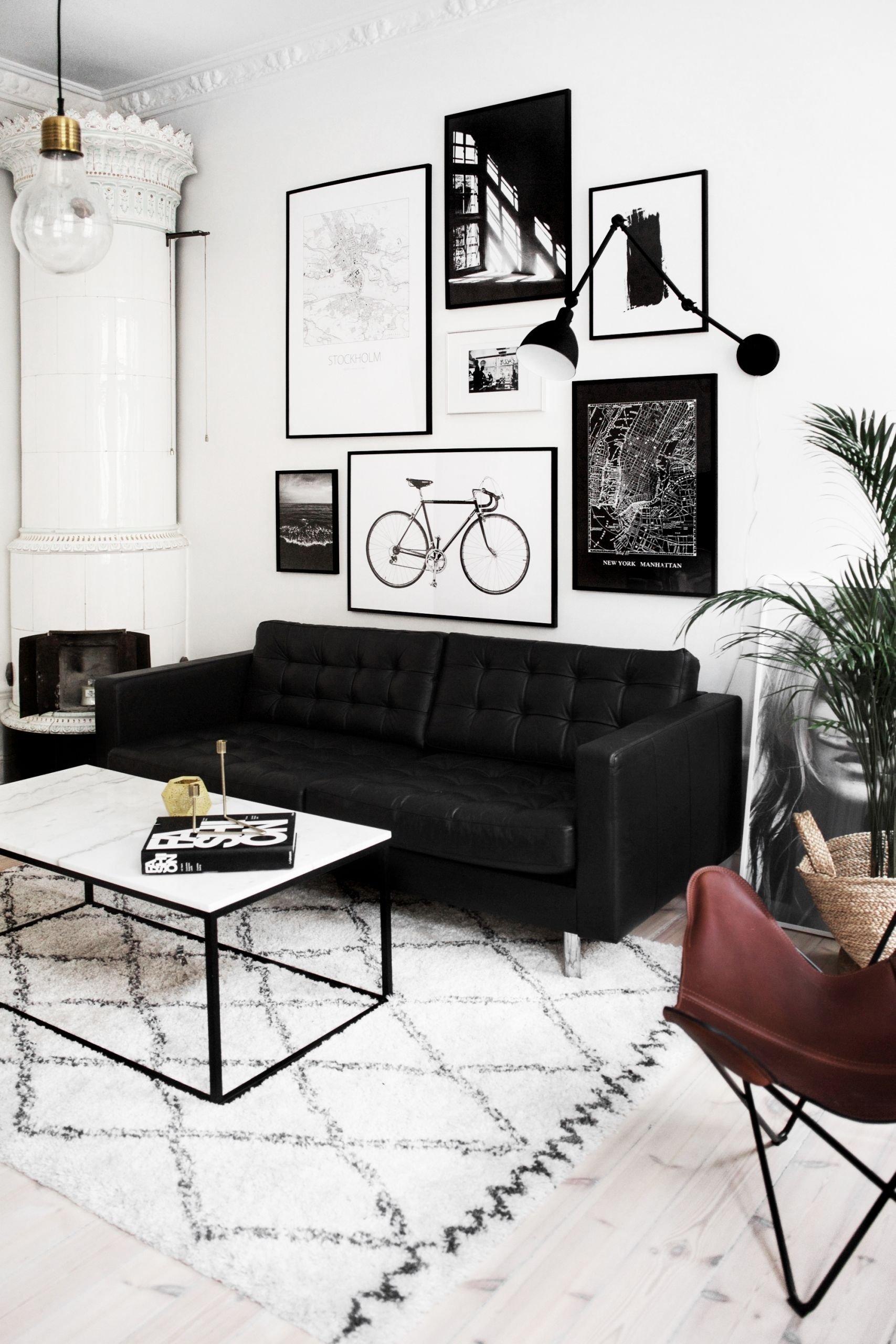 10 Fashionable Black Couch Living Room Ideas livingroom2 pinteres