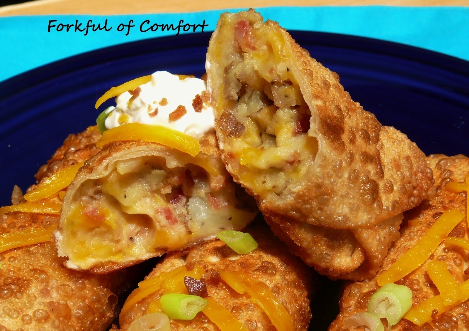loaded baked potato egg rolls – recipesbnb