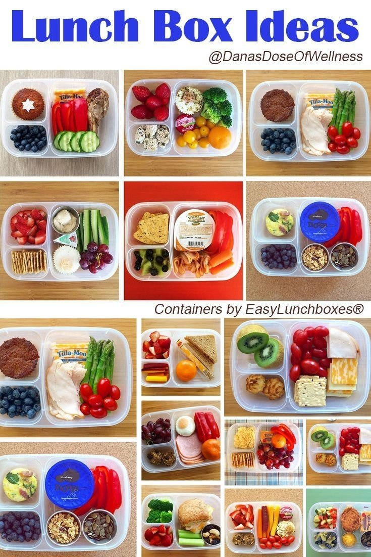 loads of #healthy lunch ideas for work or school, packed in