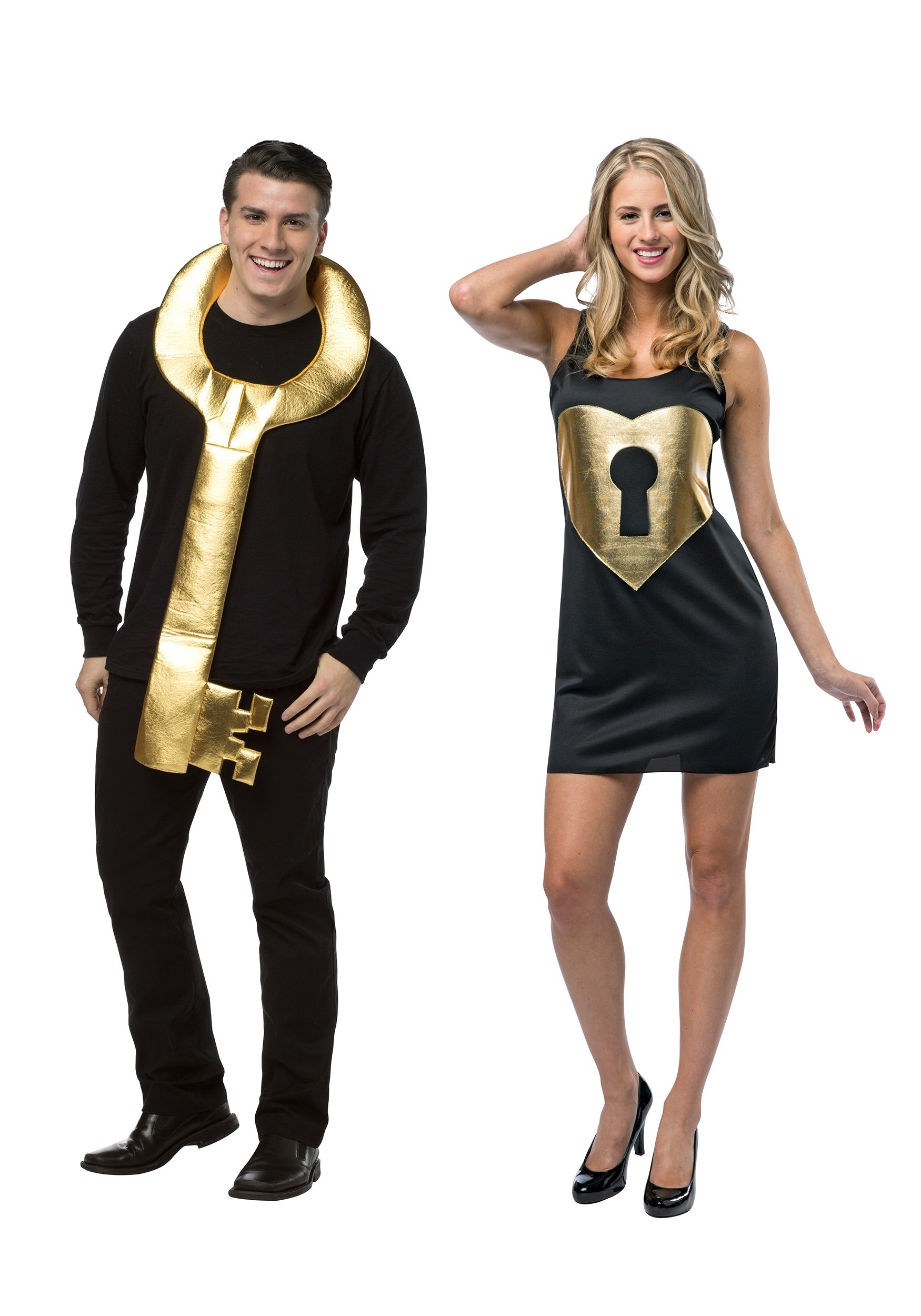 10 Nice Cute Couple Ideas For Halloween lock and key couples costume 2