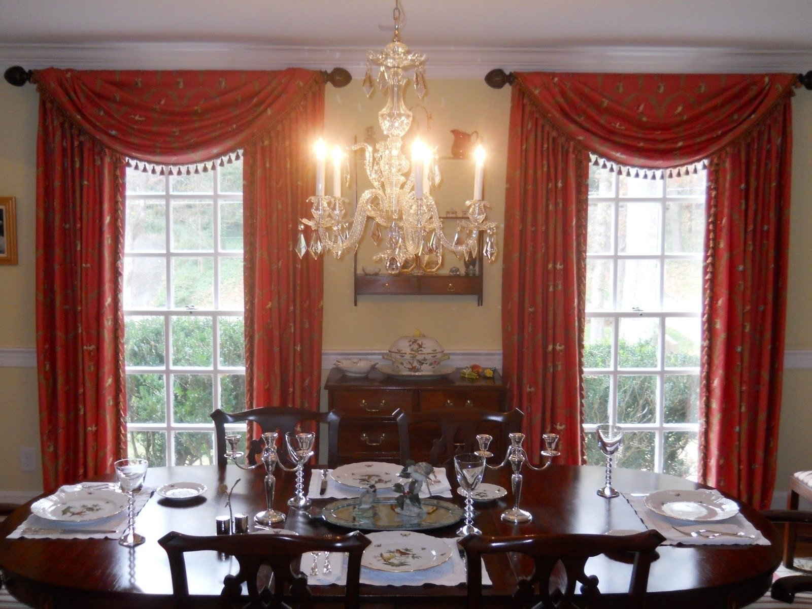lofty design curtain ideas for dining room decorating - curtains