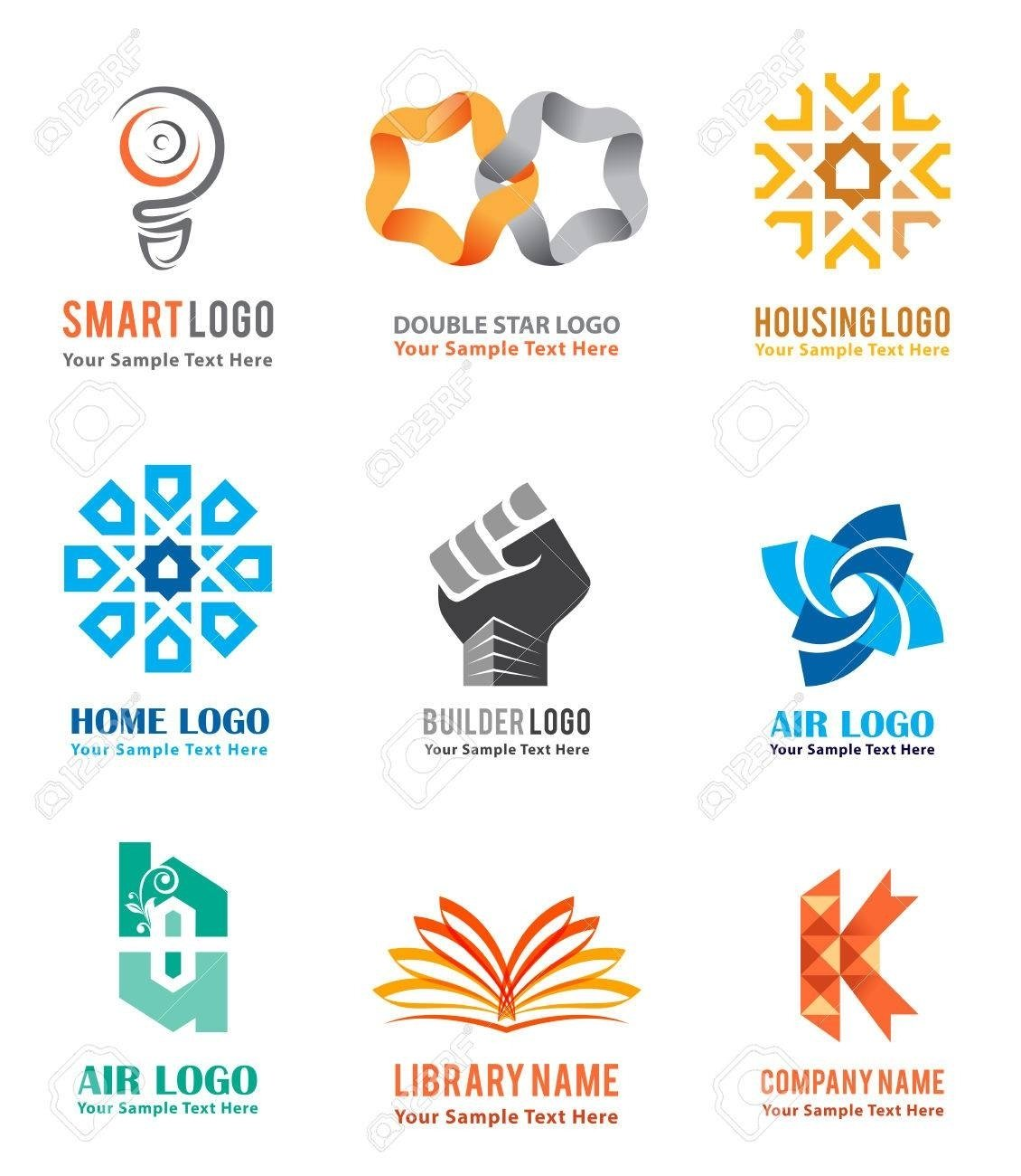 10 Beautiful Real Estate Company Names Ideas logo icons set for company identity branding like smart ideas 2021