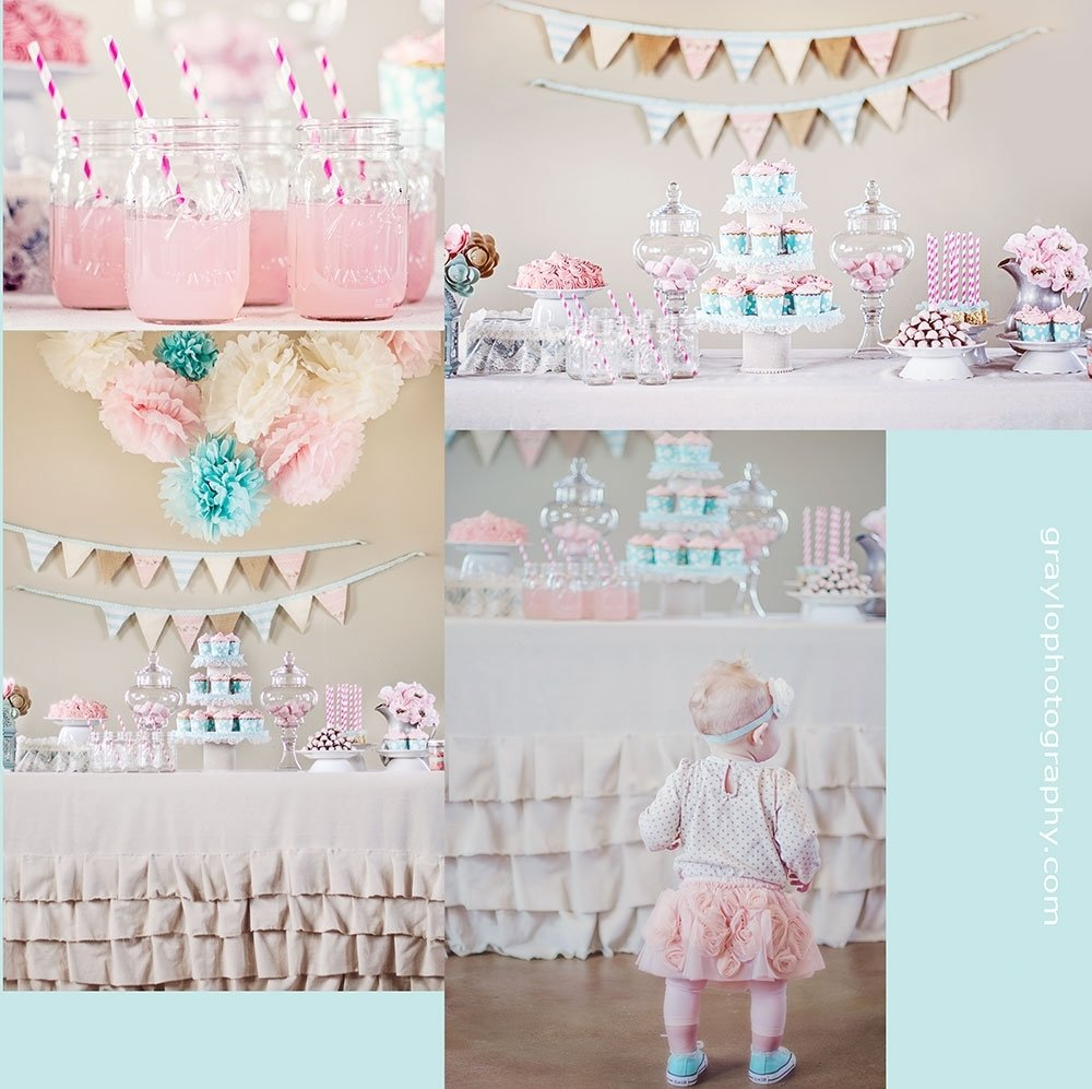 lola's first birthday party! girls birthday party ideas. vintage