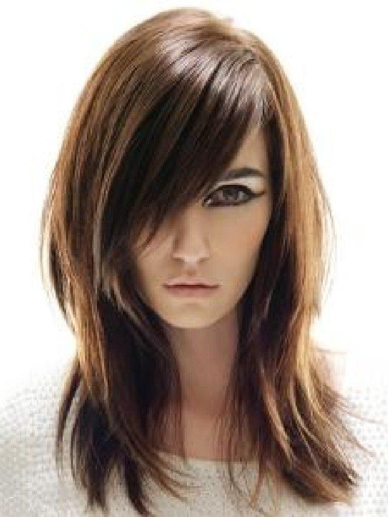 10 Ideal Bang Ideas For Medium Hair long bang hairstyles hairstyles inspiration 2021