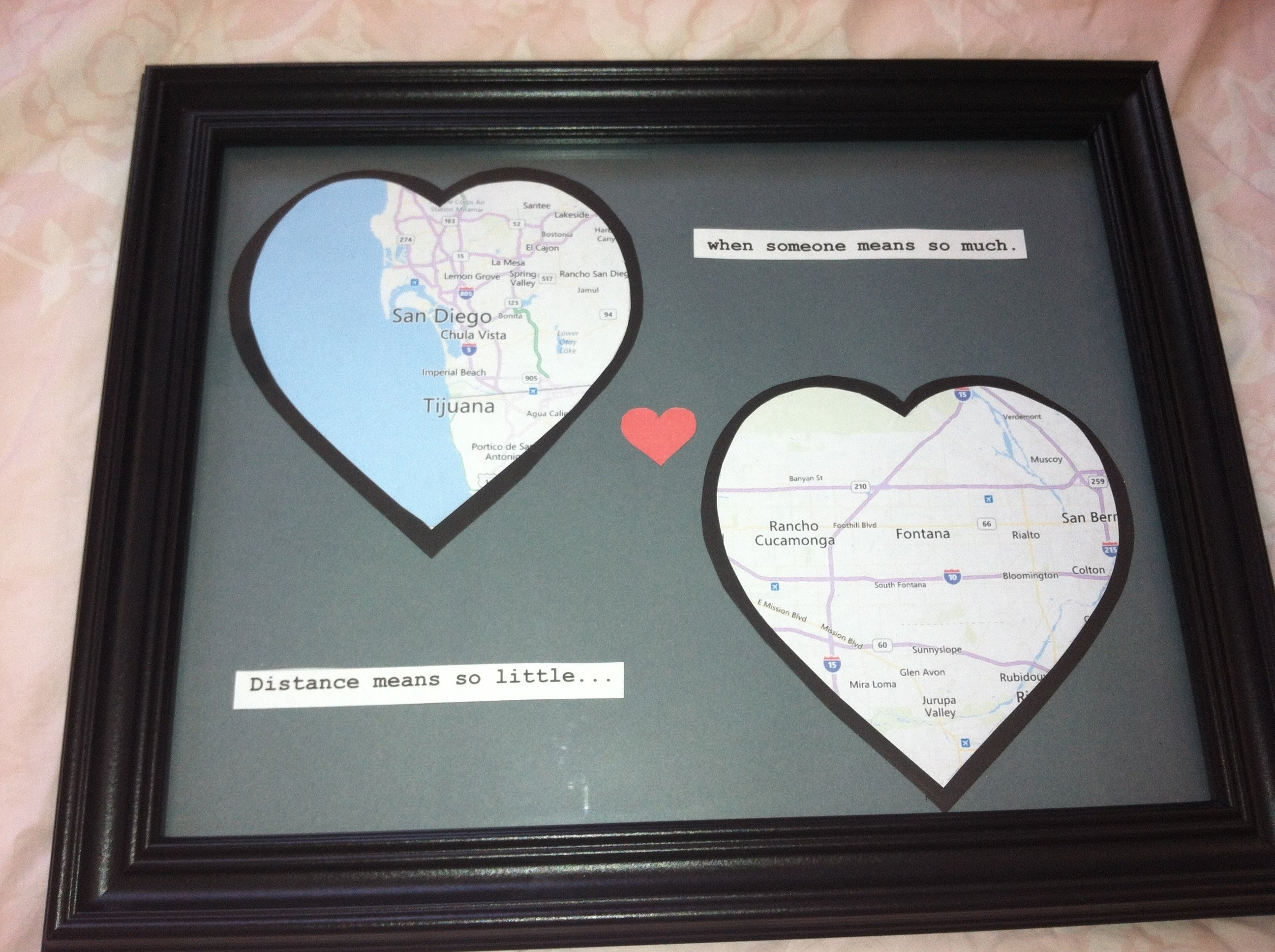long distance relationship gift diy. i need to remember to do this