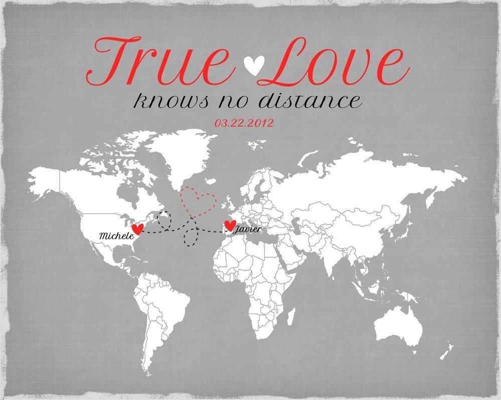 long distance relationship, living far apart, romantic gift for