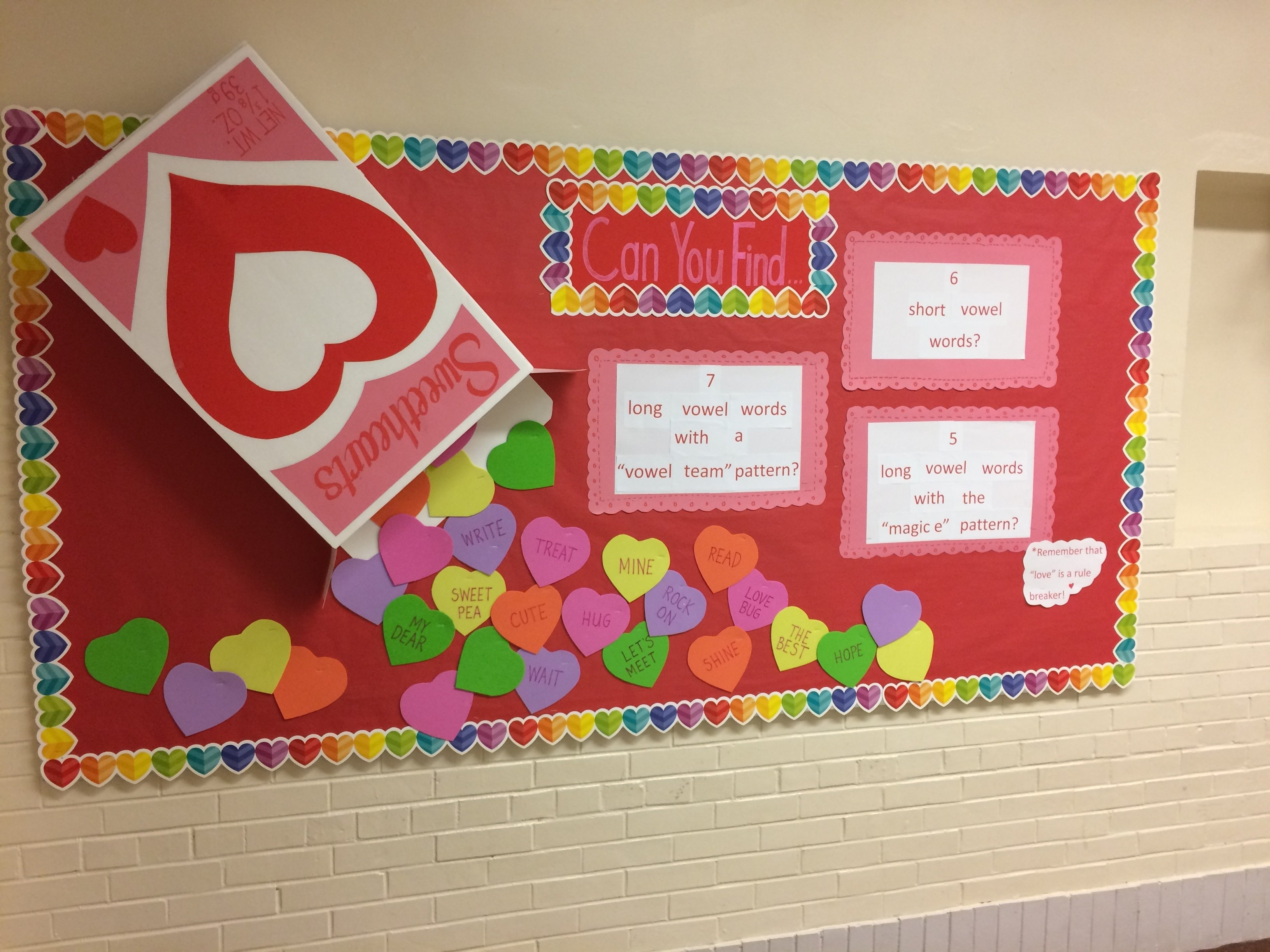 10 Pretty Valentine Bulletin Board Ideas Teachers long vowel short vowel interactive bulletin board for valentines
