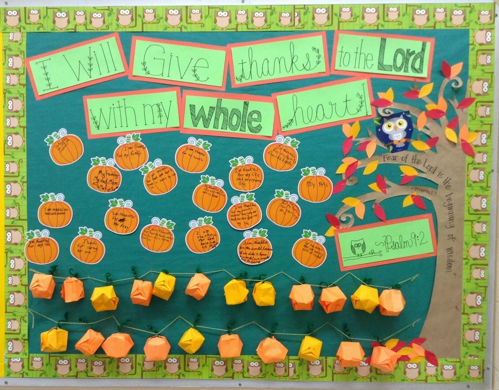 10 Great Pumpkin Patch Bulletin Board Ideas look to him and be radiant give thanks bulletin board 2021