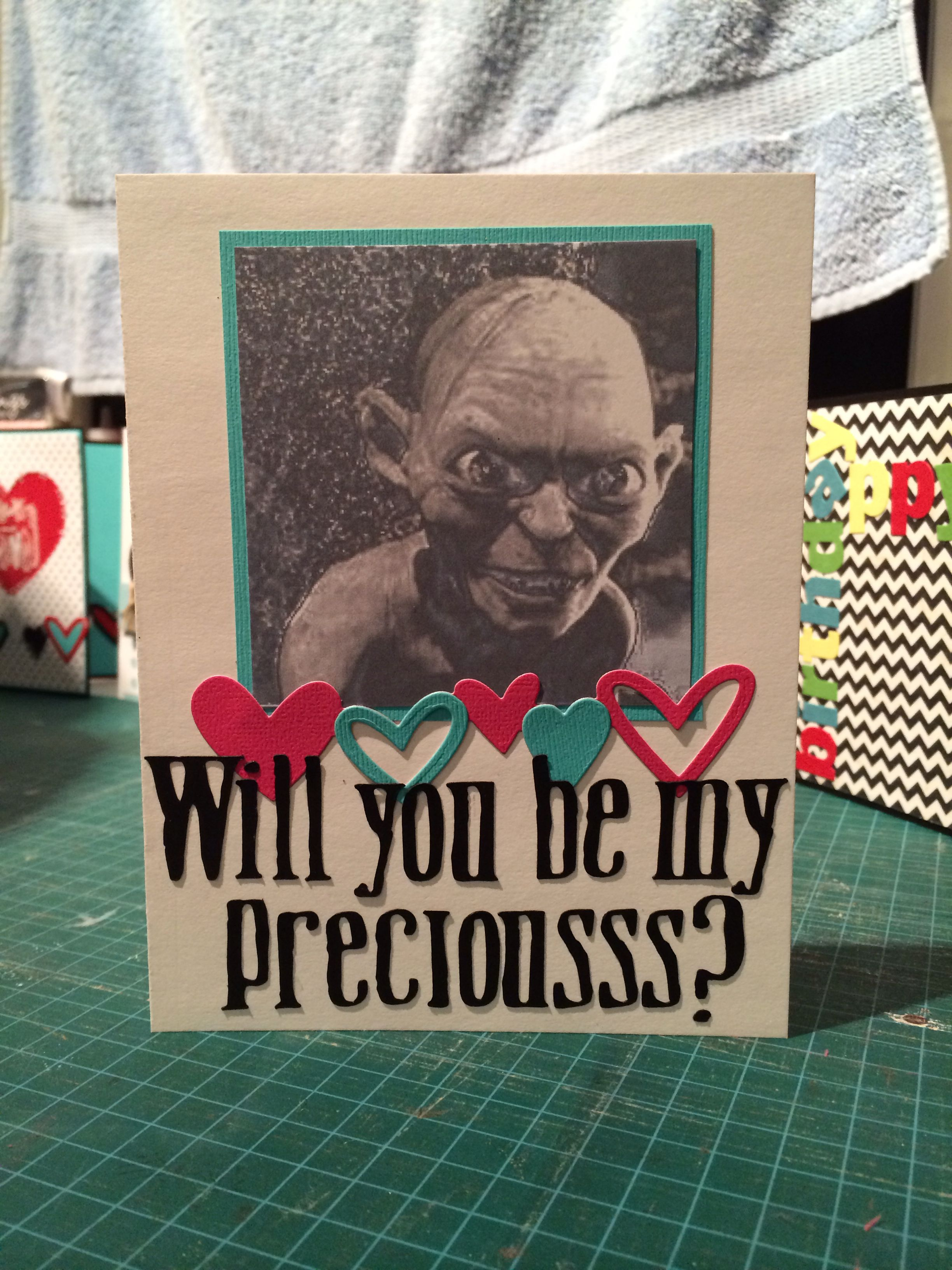 lord of the rings valentines card | valentine diys | pinterest