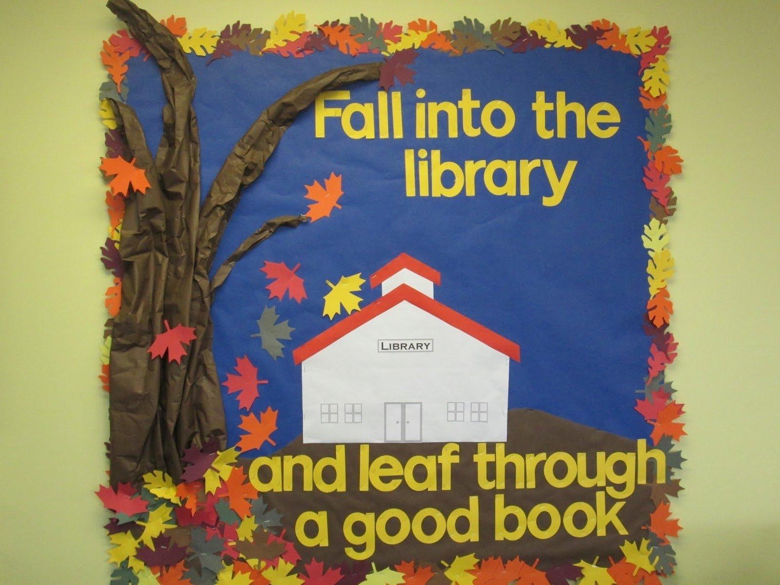 10 Elegant Fall Reading Bulletin Board Ideas lorris school library blog fall library bulletin board fall in 2021