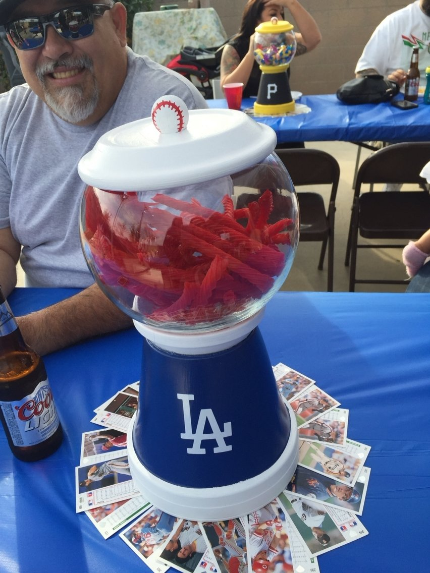 10 Cute Birthday Ideas In Los Angeles los angeles dodgers baseball theme gum ball machine first birthday 1 2021
