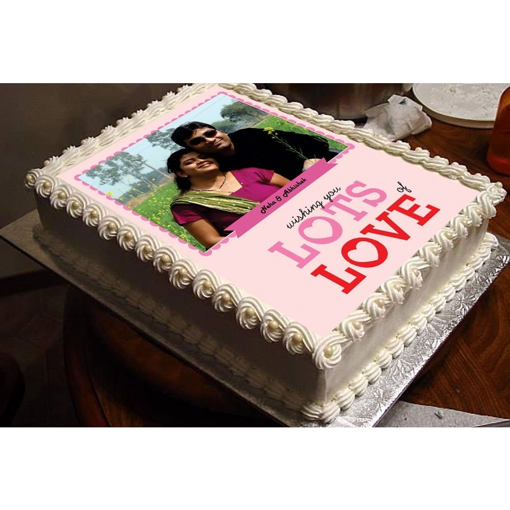 10 Attractive Romantic Birthday Gift Ideas For Him lots of love personalized photo cakes 2021