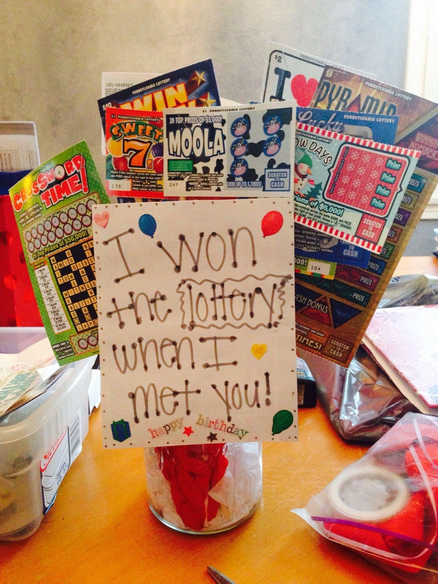 10 Elegant Birthday Ideas For New Boyfriend lottery tree for my boyfriends birthday i won the lottery when i 1 2020