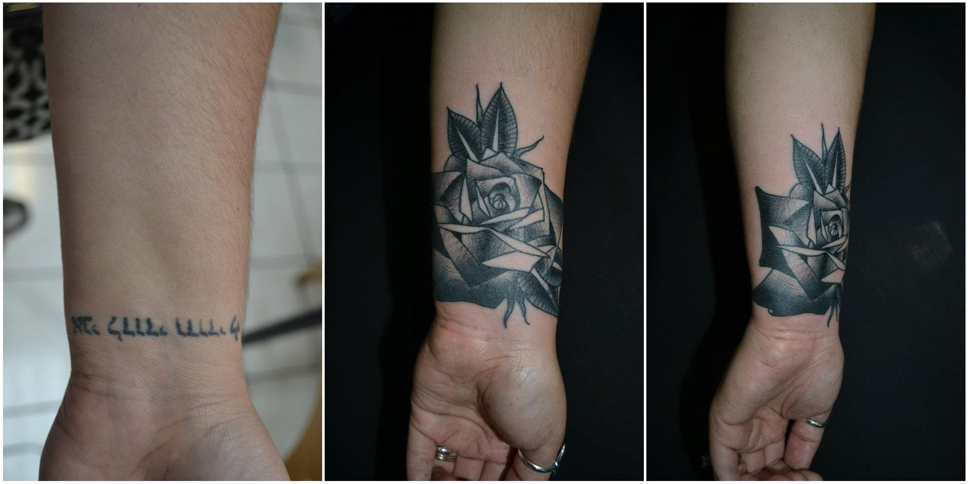 10 Fabulous Black Tattoo Cover Up Ideas lotus tattoo raymond wallace tattooing black rose cover up 3 2020